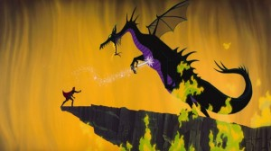 Prince-throwing-sword-into-Dragon-Maleficent-Sleeping-Beauty-600x337